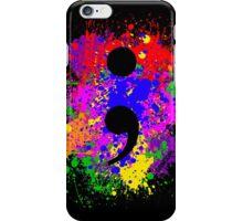 Semicolon Paint Splatter iPhone Case/Skin