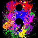 Semicolon Paint Splatter by GrimDork