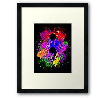 Semicolon Paint Splatter Framed Print
