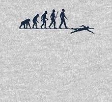 Funny Swimming Evolution Unisex T-Shirt