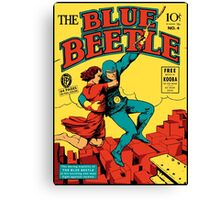 Blue Beetle Comic Cover Canvas Print