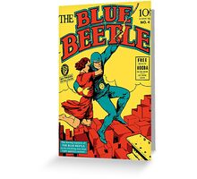 Blue Beetle Comic Cover Greeting Card