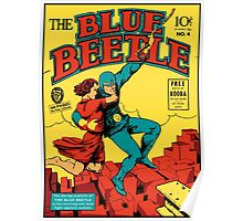 Blue Beetle Comic Cover Poster