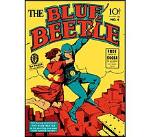 Blue Beetle Comic Cover Photographic Print
