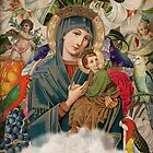 Saints Collection -- Madonna And Child by Elo Marc
