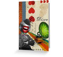 Retro Collection  --  Go Disco Greeting Card