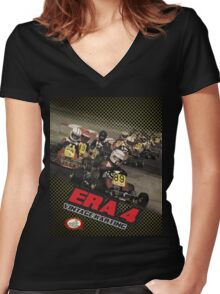 QVHK Era 4 Women's Fitted V-Neck T-Shirt
