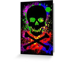 Paint Splatter Skull Greeting Card
