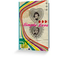 Retro Collection  --  Simple Love Greeting Card