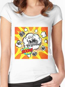 Aircooled Boom Cartoon Women's Fitted Scoop T-Shirt