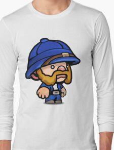 Spelunky - Blue Hunter Long Sleeve T-Shirt