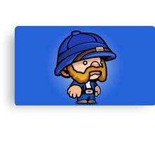 Spelunky - Blue Hunter Canvas Print