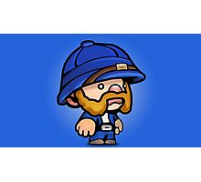 Spelunky - Blue Hunter Photographic Print