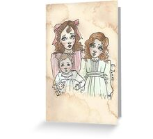 Victorian Children - Rose, Henry and Eva Greeting Card