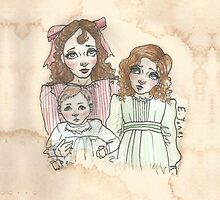 Victorian Children - Rose, Henry and Eva by Eleanor Ruby Jones