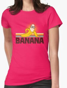 Beach Banana Womens Fitted T-Shirt
