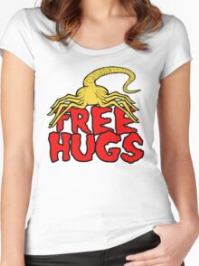 Free Face Hugs Women's Fitted Scoop T-Shirt