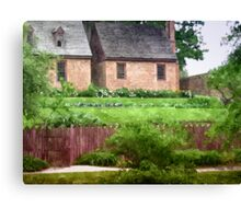 Brick Cottages Canvas Print