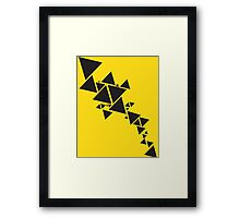 Triangle Chain Framed Print