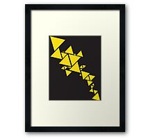 Triangle Chain reversed Framed Print