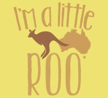 I'm a little ROO cute kangaroo with australian map One Piece - Short Sleeve