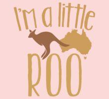 I'm a little ROO cute kangaroo with australian map One Piece - Long Sleeve