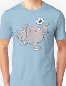 A Rhinoceros is the New Star of Soccer Unisex T-Shirt