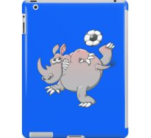 A Rhinoceros is the New Star of Soccer iPad Case/Skin