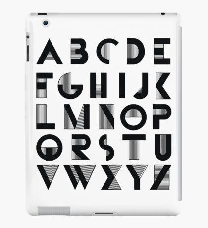 Deco Alphabet iPad Case/Skin