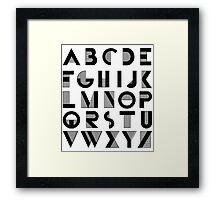 Deco Alphabet Framed Print