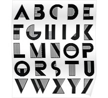 Deco Alphabet Poster