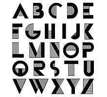 Deco Alphabet Photographic Print