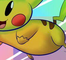 Springing Pikachu Sticker