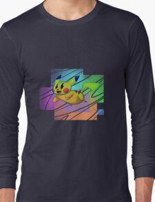 Springing Pikachu Long Sleeve T-Shirt