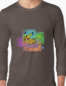 Springing Pikachu Long Sleeve T-Shirt