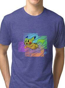 Springing Pikachu Tri-blend T-Shirt