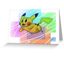 Springing Pikachu Greeting Card