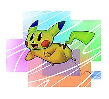 Springing Pikachu Photographic Print