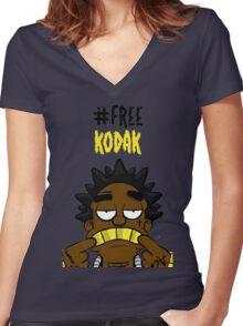#Free Kodak Women's Fitted V-Neck T-Shirt