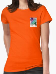 Girl with Flower Womens Fitted T-Shirt