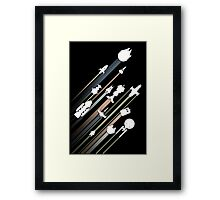 All over galaxy Framed Print