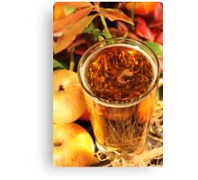 Glass of Cider Canvas Print