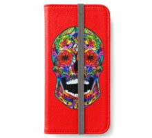 Skull Watercolor / Tribal / Sugarskull Day of The Dead Neon iPhone Wallet/Case/Skin