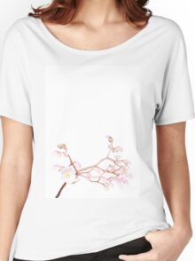 Cherry Blossom, Floral Print Women's Relaxed Fit T-Shirt