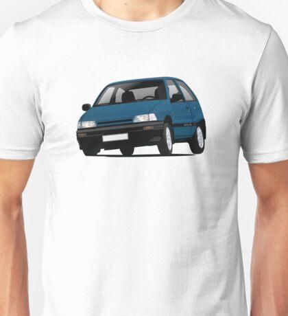Daihatsu Charade GTti illustration, blue Unisex T-Shirt