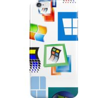 Windows Logo History Collage iPhone Case/Skin
