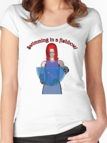 Fishbowl 2 Women's Fitted Scoop T-Shirt