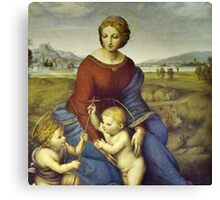 Madonna of the Meadows by Raphael Canvas Print