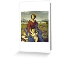Madonna of the Meadows by Raphael Greeting Card