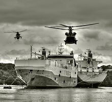 Choppers n Ships  by Rob Hawkins